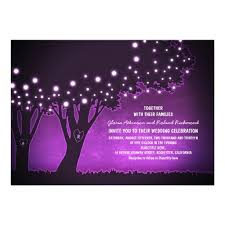 String Lights Tree Rustic Wedding Invitations