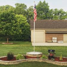 Flagpole Christmas Tree Plans by Flag Pole And Block Flower Bed Outside Projects Pinterest