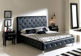 black color leather headboard nelly platform bed montana 1 579 00
