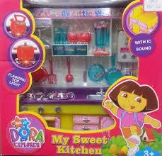 dora the explorer my sweet kitchen set