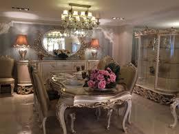 casa padrino luxus barock esszimmer set 1 esstisch 8 esszimmerstühle barock esszimmermöbel luxus qualität edel prunkvoll
