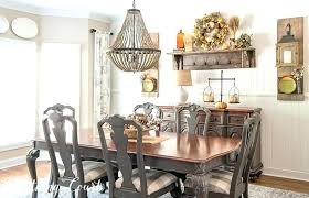Rustic Farmhouse Furniture Dining Table Style Room Fall Tour