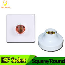e27 led light bulb holder square fitting socket with