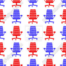 Red And Blue Chair Silhouette Seamless Pattern On White Background 185933 Download Royalty