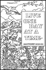 FREE Scripture Doodle Colouring Page For Kids