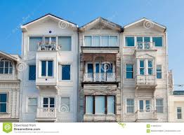 100 Triplex Houses The Old Fashioned House Stock Photo Image Of