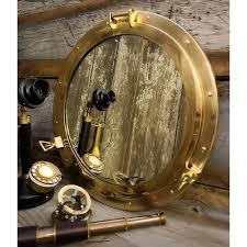 large 20 inch polished brass porthole mirror brassbell com