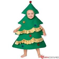 Christmas Tree Kids Fancy Dress Costume Boys Girls