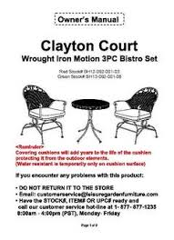 better homes and gardens clayton court 3 piece motion outdoor