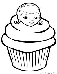 Doc Mcstuffins Cupcake Coloring Pages