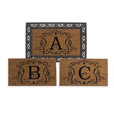 rubber door mat frame and monogram inserts bed bath beyond