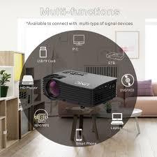 led projektor beamer 1000lm hdmi 1080p schwarz