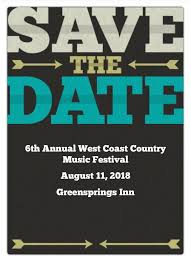 6th Annual West Coast Country Music Festival At The Greensprings Inn Ashland