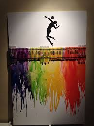 Crafty Crayon Art For That Volleyball Player At Heart