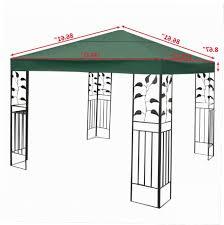 10x10 Gazebo Canopy Replacement Covers Gazebo Ideas And 10x10