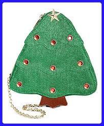 Celebrate Shop Womens Christmas Tree Crossbody Handbag Green