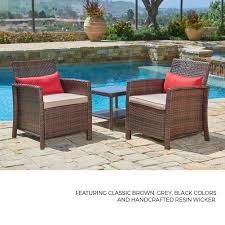 SUNCROWN Outdoor Furniture Wicker Chairs With Glass Top Table (3-Piece Set)  All-Weather | Thick, Durable Cushions With Washable Covers | Porch, ... Outdoor Wicker Chairs Table Cosco Malmo 4piece Brown Resin Patio Cversation Set With Blue Cushions Panama Pecan Alinum And 4 Pc Cushion Lounge Ding 59 X 33 In Slat Top Suncrown Fniture Glass 3piece Allweather Thick Durable Washable Covers Porch 3pc Chair End Details About Easy Care Two Natural Sorrento 5 Cast Woven Swivel Bar 48 Round Jeco Inc W00501rg Beachcroft 7 Piece By Signature Design Ashley At Becker World Love Seat And Coffee Belham Living Montauk Rocking