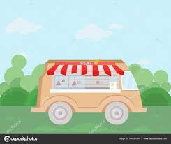 100 Food Delivery Truck Meat Bus Vector Illustration Fresh Food Delivery Truck Flat Style