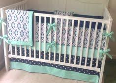 Mint Green Crib Bedding by Crib Bedding Set Navy Gray Mint Green By Butterbeansboutique