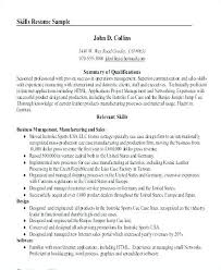 Resume Summary Example Template Sample Executive With Examples
