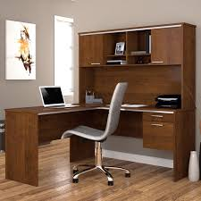bestar flare l shaped desk in tuscany brown free shipping today