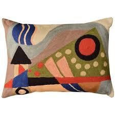 Decorative Lumbar Throw Pillows by Lumbar Kandinsky Composition Vii Cushion Cover Hand Embroidered
