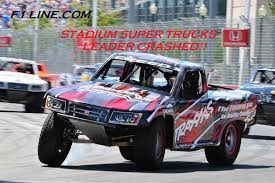 Stadium Super Trucks 2014 Long Beach Crash Last Lap - YouTube