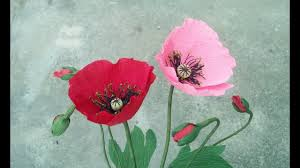 How To Make Poppy Flower From Crepe Paper