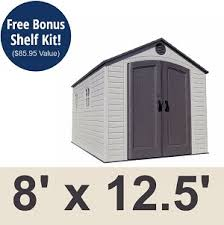 8x12 Storage Shed Kit by Lifetime 6402 Storage Shed 8x12 5 On Sale With Fast And Free Shipping