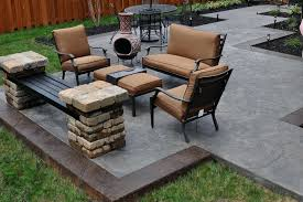 Backyard Concrete Patio Design Ideas Cost Pictures - Lawratchet.com Backyard Concrete Patio Designs Unique Hardscape Design Ideas Portfolio Of Twin Falls Services Garden The Concept Of Concrete Patio With Fire Pits Pictures Fire Pit Sitting Wall Home Decor All Gallery Stamped Banquette Fancy For Small Backyards 39 About Remodel