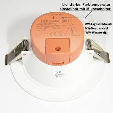 led einbaustrahler ip54 dimmbar lichtfarbe einstellbar