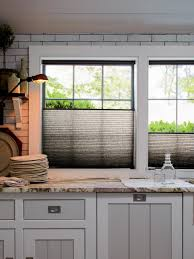 Kitchen Curtain Ideas With Blinds by 10 Stylish Kitchen Window Treatment Ideas Hgtv