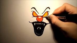 Creepy Clown Pumpkin Stencils by Scary Halloween Clowns Drawings U2013 Festival Collections