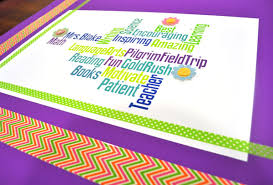 Teacher Appreciation Wordle Poster