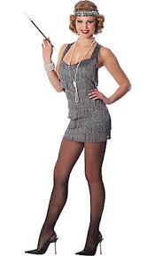 Adult Grey Lindy And Lace Flapper Costume