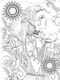 Mystical A Fantasy Coloring Book Adult PagesColouring