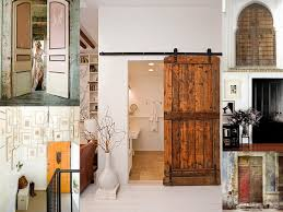 In Vogue Barn Reclaimed Wood Sliding Rustic Doors For Small Powder Room Ideas With White Wall Polished Interior Country House Designs