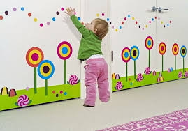 Simple Wall Decoration Ideas For Preschool As Well Kids Room Painting Idea Google