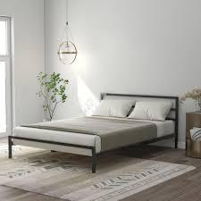 140 x 200 cm metallbettrahmen plattformbett mit lattenrost bettrahmen für das kinderzimmer oder gästezimmer schlafzimmer schwarz