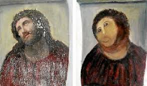 Famous Spanish Mural Artists by Amateur Restoration Botches Jesus Painting In Spain Public Radio