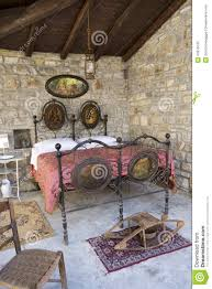 Antique Bedroom In Italy With Wrought Iron Bed And Bed ...