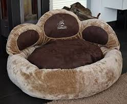 Paw Bed Dog Bed Luena Extra Sof S M XL or XXL Beige or Brown