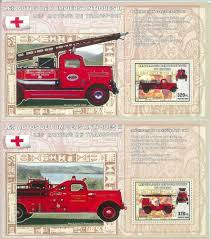 100 Old Fire Trucks 2374 2006 CONGO SOUVENIR SHEET SET Ford EBay