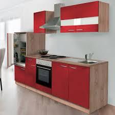 respekta küchenzeile ohne e geräte lbkb270esr 270 cm rot eiche sonoma sägerau