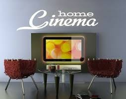 wandtattoo home cinema heimkino sprüche wohnzimmer kino tv wandaufkleber wal213 ebay