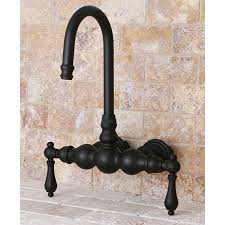 Overstock Bronze Kitchen Faucets by Wall Mount Dark Oil Rubbed Bronze Clawfoot Tub Faucet Free