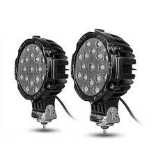 100 Led Work Lights For Trucks 2Pcs 7 51W Spot Round Bar Off Road Fog Driving
