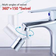 universal splash filter schwenkbar luftsprudler wasserhahn drehen wasser 720 bad wasserhahn becken extender küche zubehör mit adapter