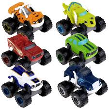 100 Trucks And Toys 6Pcs Blaze And The Monster Machines Vehicles Racer Cars