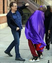 Street Fight Greg Kinnear And Tituss Burgess Filmed A On Wednesday In New York
